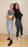 """Ismenia Mendes and Isabelle Fuhrman in rehearsal with Red Bull Theater's All-Female """"MACBETH"""" at the Vineyard Theatre Rehearsal Studios on April 12, 2019 in New York City."""