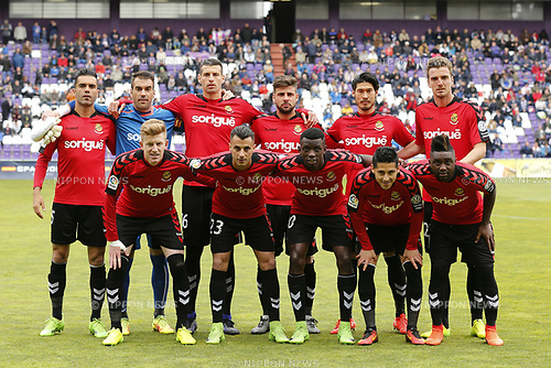 "Tarragona team group line-up (Tarragona), MARCH 25, 2017 - Football / Soccer : Spanish ""Liga 123"" match between Real Valladolid 1-2 Gimnastic Tarragona at the Estadio Jose Zorrilla in Valladolid, Spain. (Photo by Mutsu Kawamori/AFLO) [3604]"