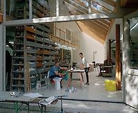 Portrait of Stefan and Saskia Diez in their design workshop