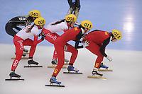 "SHORT TRACK: MOSCOW: Speed Skating Centre ""Krylatskoe"", 14-03-2015, ISU World Short Track Speed Skating Championships 2015, Semifinals Relay Ladies, CANADA, CHINA, ©photo Martin de Jong"