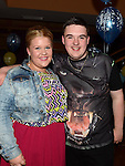 Dean Simpson celebrating his 18th birthday in the Thatch with friend Hayley Brannigan. Photo:Colin Bell/pressphotos.ie