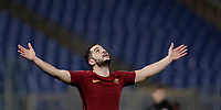 Football Soccer: UEFA Champions League  Round of 16 Second Leg, AS Roma vs FC Shakhtar Donetsk, Stadio Olimpico Rome, Italy, March 13, 2018. <br /> Roma's Kostas Manolas celebrates after winning 1-0 the Uefa Champions League football soccer match between AS Roma and FC Shakhtar Donetsk at Rome's Olympic stadium, March 13, 2018.<br /> UPDATE IMAGES PRESS/Isabella Bonotto