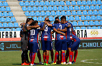 SANTA MARTA - COLOMBIA, 05-04-2019: Jugadores del Unión posan para una foto previo al partido por la fecha 14 entre Unión Magdalena y Patriotas Boyacá como parte de la Liga Águila I 2019 jugado en el estadio Sierra Nevada de la ciudad de Santa Marta. / Players of Union pose to a photo prior Final second leg match between  Union Magdalena and Patriotas Boyaca as a part Aguila League I 2019 played at Sierra Nevada stadium in Santa Marta city. Photo: VizzorImage / Gustavo Pacheco / Cont