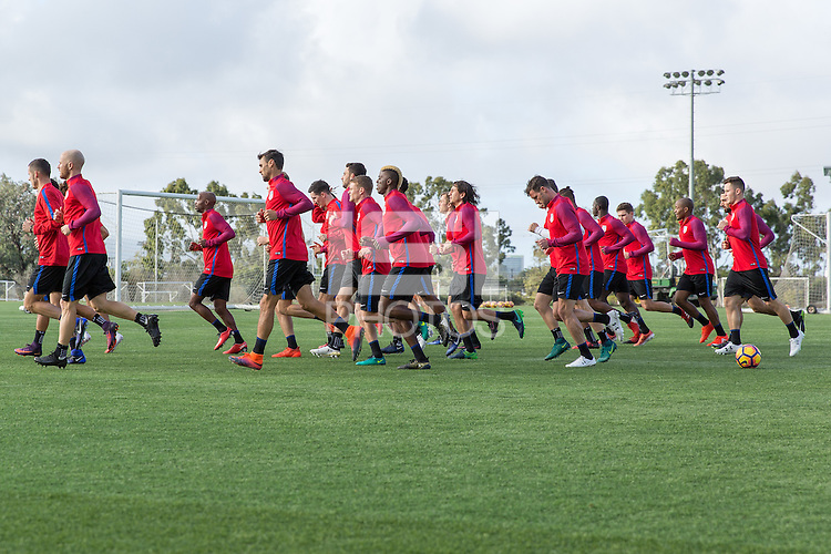 Carson, CA - January 11, 2017: The USMNT train during their annual winter training camp at StubHub Center.
