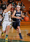SPEARFISH, SD - DECEMBER 15, 2013:  Laura Tyree #10 of Colorado Mines drives past Black Hills State defender Shanna Halalilo #10 during their Rocky Mountain Athletic Conference game Sunday at the Donald E. Young Center in Spearfish, S.D.  (Photo by Dick Carlson/Inertia)