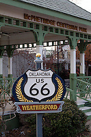 McPhetridge Centennial Park on Route 66 in Weatherford Oklahoma, was completed in 1997 for Weatherfords 100th birthday in 1998.