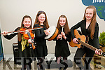 Scor ns bPaisti Chiarrai Thuaidh: Taking part in the Scor ns bPaisti Chiarrai Thuaidh held in the Marian Hall, Moyvane on Sunday last were the Moyvane Ceol  Uirlise group of Ava Fitzgerald, Mary Kearney, Rebekah Sheehy & Caoimhe Kearney.