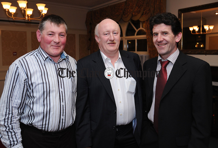 Martin Enright and P.J Kennedy, selectors, with Martin Fitzgerald, father of Kilmaley hurler Eoin Fitzgerald. Photograph by Declan Monaghan