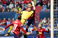 Unai Garcia (defender; CA Osasuna) during the Spanish la League soccer match between CA Osasuna and Lorca FC at Sadar stadium, in Pamplona, Spain, on Saturday, <br /> May 27, 2018.