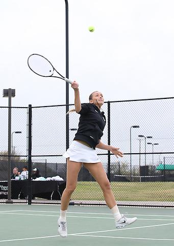 DENTON, TX - APRIL 5: Kseniya Bardabush at Waranch Tennis Center in Denton on April 5, 2014 in Denton, Texas. Photo by Rick Yeatts