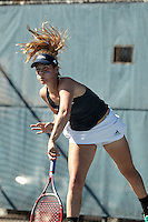 SAN ANTONIO, TX - JANUARY 30, 2016: The University of Texas at San Antonio Roadrunners defeat the St. Mary's University Rattlers 6-1 at the UTSA Tennis Center. (Photo by Jeff Huehn)