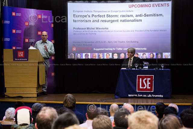 (wrong event description on the screen).<br /> <br /> London, 11/11/2015. Today, LSE presented a public lecture - part of the Department of Economics and Centre for Macroeconomics public lecture - called &quot;Phishing for Phools: the economics of manipulation and deception&quot; hosted by the author of the homonymous book (written with George A. Akerlof), Robert J. Shiller (American Nobel Laureate, economist, academic &amp; author; he currently Sterling Professor of Economics at Yale University &amp; he is a fellow at the Yale School of Management's International Center for Finance; he has been a research associate of the National Bureau of Economic Research, NBER, since 1980; he is ranked among the 100 most influential economists of the world; Eugene Fama, Lars Peter Hansen &amp; Shiller jointly received the 2013 Nobel Memorial Prize in Economic Sciences, &quot;for their empirical analysis of asset prices&quot;). Chair of the event was Wouter Den Haan (Professor of Economics at LSE &amp; Co-Director of the Centre for Macroeconomics). From the event online page: &lt;&lt;Ever since Adam Smith, the central teaching of economics has been that free markets provide us with material well-being, as if by an invisible hand. Robert Shiller delivers a fundamental challenge to this insight, arguing that markets harm as well as help us. As long as there is profit to be made, sellers will systematically exploit our psychological weaknesses and our ignorance through manipulation and deception. Rather than being essentially benign and always creating the greater good, markets are inherently filled with tricks and traps and will &quot;phish&quot; us as &quot;phools.&quot; This represents a radically new direction in economics, [&hellip;] It thereby explains a paradox: why, at a time when we are better off than ever before in history, all too many of us are leading lives of quiet desperation. [&hellip;]&gt;&gt;. (http://bit.ly/1WVMGN7)<br /> <br /> Here there is the link to podcast