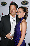 BEVERLY HILLS, CA. - October 11: Ross McCall and Actress Jennifer Love Hewitt arrive at St. Jude's 5th Annual Runway For Life Benefit at the Beverly Hilton Hotel on October 11, 2008 in Beverly Hills, California.
