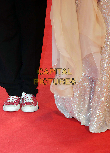 "STEPHEN FREARS & HELEN MIRREN""S SHOES.""The Queen"" premiere screening at the 63rd Venice International Film Festival, Venice, Italy. .September 2nd, 2006 .Ref: OME/GPA.feet trainers sneakers red converse.www.capitalpictures.com .sales@capitalpictures.com .©Omega/Capital Pictures"