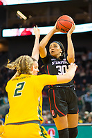 SAN FRANCISCO, CA - NOVEMBER 09: San Francisco, CA - November 9, 2019: Haley Jones at the Chase Center. The Stanford Cardinal defeated the USF Dons 97-71. during a game between University of San Francisco and Stanford Basketball W at Chase Center on November 09, 2019 in San Francisco, California.