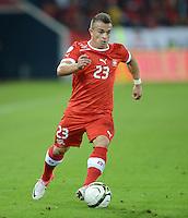 Fussball International  WM Qualifikation 2014   11.09.2012 Schweiz - Albanien Xherdan SHAQIRI (Schweiz) am Ball