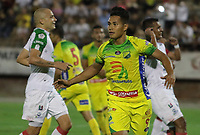 NEIVA - COLOMBIA, 05-07-2015: Juan Sebastian Herrera jugador de Atlético Huila celebra después de anotar un gol a Once Caldas por la fecha 5 de la Liga Águila II 2018 jugado en el estadio Guillermo Plazas Alcid de la ciudad de Neiva. / Juan Sebastian Herrera player of Atletico Huila celebrates after scoring a goal to Once Caldas during match valid for the date 5 of the Aguila League II 2018 played at Guillermo Plazas Alcid in Neiva city. VizzorImage / Sergio Reyes / Cont