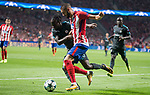 Atletico de Madrid's Yannick Carrasco and Chelsea's Victor Moses during UEFA Champions League match between Atletico de Madrid and Chelsea at Wanda Metropolitano in Madrid, Spain September 27, 2017. (ALTERPHOTOS/Borja B.Hojas)