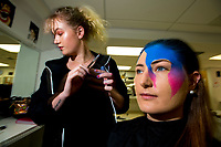 Te Auaha special effects makeup photoshoot at Weltec in Wellington, New Zealand on Wednesday, 24 May 2017. Photo: Dave Lintott / lintottphoto.co.nz