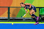 Caitlin van Sickle #28 of United States passes the ball during Great Britain vs USA in a women's Pool B game at the Rio 2016 Olympics at the Olympic Hockey Centre in Rio de Janeiro, Brazil.