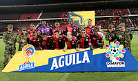 CÚCUTA-COLOMBIA, 05-10-2019: Jugadores de Cúcuta Deportivo posan para una foto antes de partido entre Cúcuta Deportivo y Alianza Petrolera, de la fecha 15 por la Liga Águila II 2019, jugado en el estadio General Santander de la ciudad de Cúcuta. / Players of Cucuta Deportivo pose for a photo prior a match between Cucuta Deportivo and Alianza Petrolera, of the 15th date for the Aguila Leguaje II 2019 at the General Santander Stadium in Cucuta city Photo: VizzorImage / Manuel Hernández / Cont.