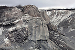 Heavily eroded pyroclastic flow deposits from Shiveluch Volcano, Kamchatka, Russia.