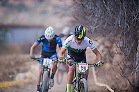 Chelva, SPAIN - MARCH 6: Daniel de la Fe during Spanish Open BTT XCO on March 6, 2016 in Chelva, Spain