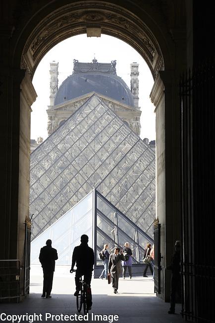 The Pyramid by Pei, Louvre Art Museum, Paris, France