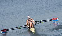Rio de Janeiro. BRAZIL.   USA W2X, <br /> BOW, Meghan O'LEARY And Ellen TOMEK,  2016 Olympic Rowing Regatta. Lagoa Stadium,<br /> Copacabana,  &ldquo;Olympic Summer Games&rdquo;<br /> Rodrigo de Freitas Lagoon, Lagoa. Saturday  06/08/2016 <br /> <br /> [Mandatory Credit; Peter SPURRIER/Intersport Images]