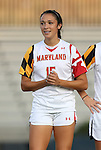 20 September 2012: Maryland's Erkia Nelson. The University of Maryland Terrapins played the Duke University Blue Devils to a 2-2 tie after overtime at Koskinen Stadium in Durham, North Carolina in a 2012 NCAA Division I Women's Soccer game.