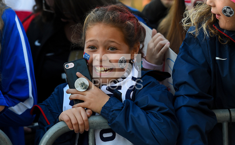 San Jose, CA - Sunday November 12, 2017: USA supporters during an International friendly match between the Women's National teams of the United States (USA) and Canada (CAN) at Avaya Stadium.