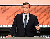 Chris Cox, Executive Director of NRA-ILA makes remarks at the 2016 Republican National Convention held at the Quicken Loans Arena in Cleveland, Ohio on Tuesday, July 19, 2016.<br /> Credit: Ron Sachs / CNP<br /> (RESTRICTION: NO New York or New Jersey Newspapers or newspapers within a 75 mile radius of New York City)