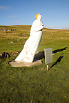 The White Wife statue, Otterswick, Yell, Shetland Islands