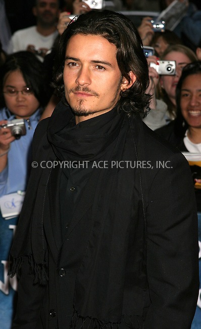 WWW.ACEPIXS.COM . . . . . ....NEW YORK, MAY 4, 2005....Orlando Bloom at the 'Kingdom of Heaven' premiere held at the Ziegfeld Theater... ..Please byline: ACE009 - ACE PICTURES.. . . . . . ..Ace Pictures, Inc:  ..Craig Ashby (212) 243-8787..e-mail: picturedesk@acepixs.com..web: http://www.acepixs.com