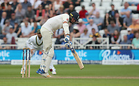 England's Stuart Broad loses his wicket, lbw, from the bowling of South Africa's Chris Morris<br /> <br /> Photographer Stephen White/CameraSport<br /> <br /> Investec Test Series 2017 - Second Test - England v South Africa - Day 1 - Friday 14th July 2017 - Trent Bridge - Nottingham<br /> <br /> World Copyright &copy; 2017 CameraSport. All rights reserved. 43 Linden Ave. Countesthorpe. Leicester. England. LE8 5PG - Tel: +44 (0) 116 277 4147 - admin@camerasport.com - www.camerasport.com