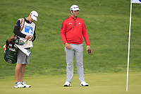 Jon Rahm (ESP) on the 16th green during Round 4 of the Open de Espana 2018 at Centro Nacional de Golf on Sunday 15th April 2018.<br /> Picture:  Thos Caffrey / www.golffile.ie<br /> <br /> All photo usage must carry mandatory copyright credit (&copy; Golffile | Thos Caffrey)