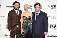 "Casey Affleck, Michelle Williams and director, Kenneth Lonergan<br /> at the London Film Festival premiere for ""Manchester by the Sea"" at the Odeon Leicester Square, London.<br /> <br /> <br /> ©Ash Knotek  D3164  08/10/2016"