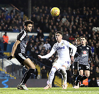 Reading's Tiago Ilori vies for possession with Leeds United's Pablo Hernandez<br /> <br /> Photographer Rich Linley/CameraSport<br /> <br /> The EFL Sky Bet Championship - Leeds United v Reading - Tuesday 27th November 2018 - Elland Road - Leeds<br /> <br /> World Copyright &copy; 2018 CameraSport. All rights reserved. 43 Linden Ave. Countesthorpe. Leicester. England. LE8 5PG - Tel: +44 (0) 116 277 4147 - admin@camerasport.com - www.camerasport.com