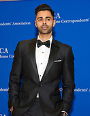 Comedian Hasan Minhaj, who will serve as the host for the evening, arrives for the 2017 White House Correspondents Association Annual Dinner at the Washington Hilton Hotel on Saturday, April 29, 2017.<br /> Credit: Ron Sachs / CNP
