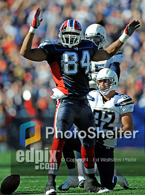 19 October 2008:  Buffalo Bills' tight end Robert Royal celebrates a gain against the San Diego Chargers at Ralph Wilson Stadium in Orchard Park, NY. The Bills defeated the Chargers 23-14 and maintain their first place position in the AFC East with a 5 and 1 record...Mandatory Photo Credit: Ed Wolfstein Photo