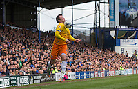 Garry Thompson of Wycombe Wanderers controls the ball during the Sky Bet League 2 match between Portsmouth and Wycombe Wanderers at Fratton Park, Portsmouth, England on 23 April 2016. Photo by Andy Rowland.