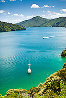 Governors Beach near Picton - Marlborough Sounds , New Zealand