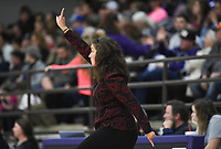 Elkins head coach Monica Wells gestures, Friday, February 14, 2020 during a basketball game at Elkins High School in Elkins. Check out nwaonline.com/prepbball/ for today's photo gallery.<br /> (NWA Democrat-Gazette/Charlie Kaijo)