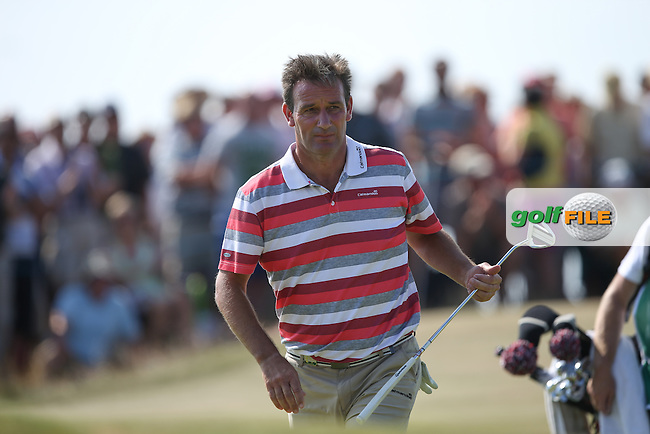 Paul Wesselingh (ENG) during Round One of the 2014 Senior Open Championship presented by Rolex from Royal Porthcawl Golf Club, Porthcawl, Wales. Picture:  David Lloyd / www.golffile.ie