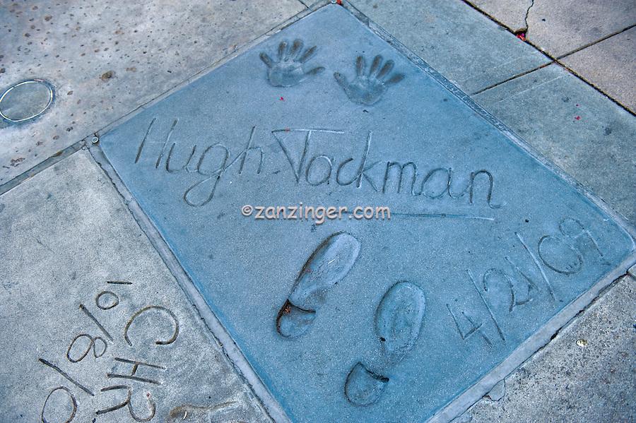 Grauman's, Chinese, Theatre, Hugh Jackman, Movie Star, Hand - Footprint, Impressions, Hollywood,  CA