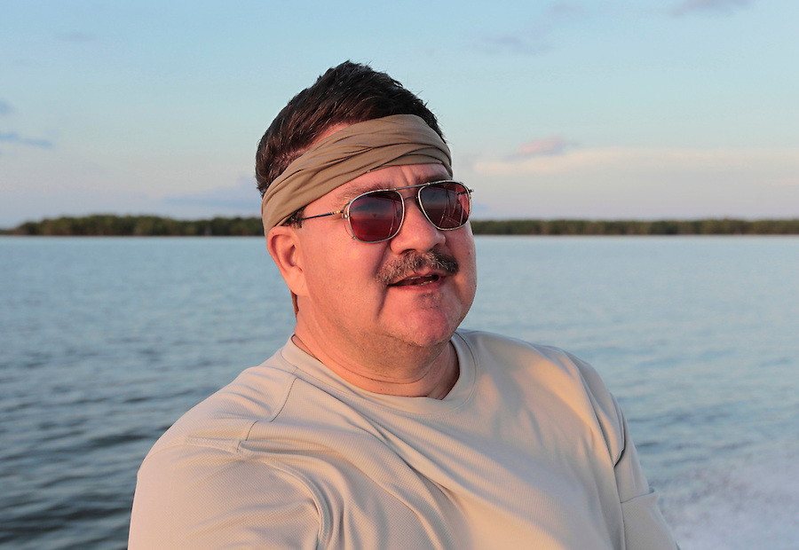 Steve Scalish in Florida's Everglades National Park out of Chokoloskee Island and the 10,000 Islands National Wildlife Refuge. Photo/Andrew Shurtleff