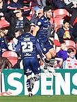 Alex Mowatt of Leeds celebrates his opening goal - Middlesbrough vs. Leeds United - Skybet Championship - Riverside Stadium - Middlesbrough - 21/02/2015 Pic Philip Oldham/Sportimage