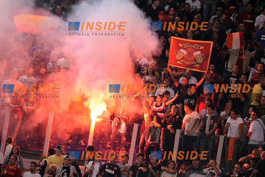 Tifosi della Roma.26/09/2012 Roma.Stadio Olimpico.Football Calcio 2012 / 2013 .Campionato di Calcio Serie A.Roma vs Sampdoria.Foto Insidefoto / Antonietta Baldassarre.