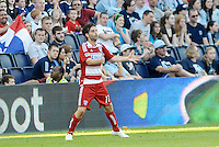 Ricardo Villar (11) FC Dallas midfieder celebrates his goal... Sporting KC defeated FC Dallas 2-1 at LIVESTRONG Sporting Park, Kansas City, Kansas.