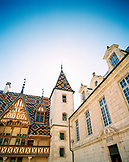 FRANCE, Burgundy, low angle view of hospice buildings, Beaune